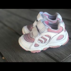 Baby Girl Stride Rite Shoes, 4.5 , Pink and White